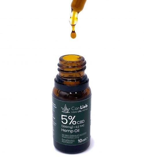 CBD + CBDA 5% Full Spectrum in Organic Hemp Oil / Batches Lab Tested: 3.0% - 7.0% CBD/ <0.2% THC - image IMG_1423-1-e1609792444877 on https://www.canlieb.de