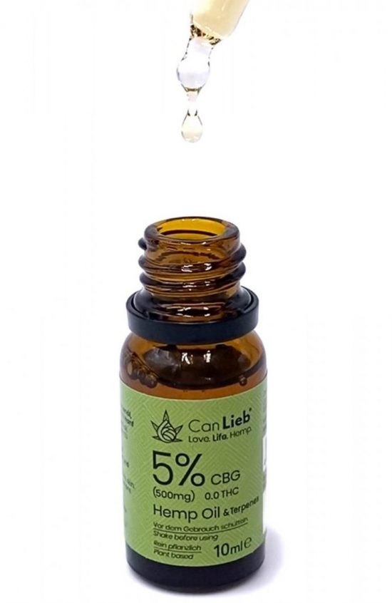 CBG 5% Cannabigerol in Refined Hemp Oil with Terpenes / Batch: E320033 / 0.0% THC - image IMG_4104-2-1-e1609792078786-550x846 on https://www.canlieb.de