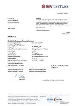 CBG 10% in Refined Hemp Oil with Terpenes / Batch: E420034 / 0.0% THC - image CBG-10-Pesticide-Analysis-250x354 on https://www.canlieb.de
